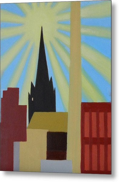 Sun Over Greenpoint Metal Print