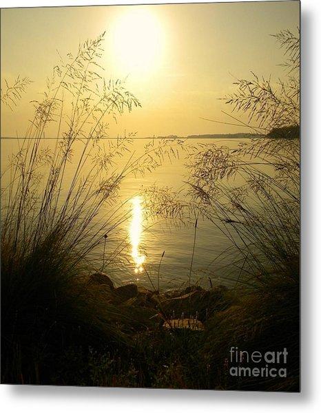 Sun Over Lake Murray Metal Print