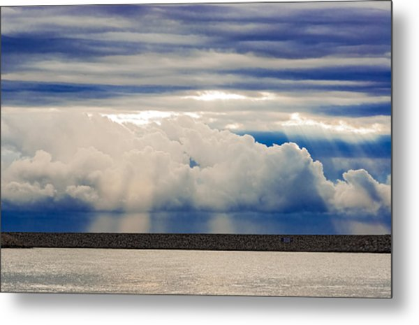 Sun Over The Clouds Metal Print