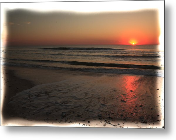 Sun Over The Ocean Metal Print