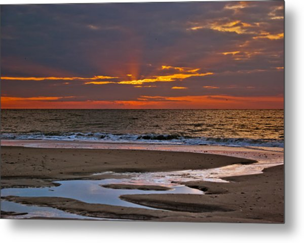 Metal Print featuring the photograph Sun Ray Sunrise by Francis Trudeau