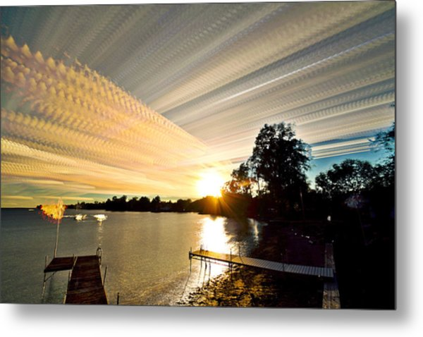 Sun Rays And Wind Streams Metal Print