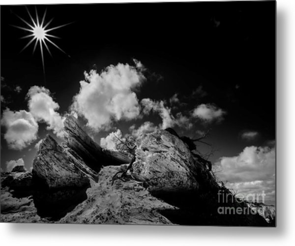 Metal Print featuring the photograph Sun Rocks And Shadows by Julian Cook