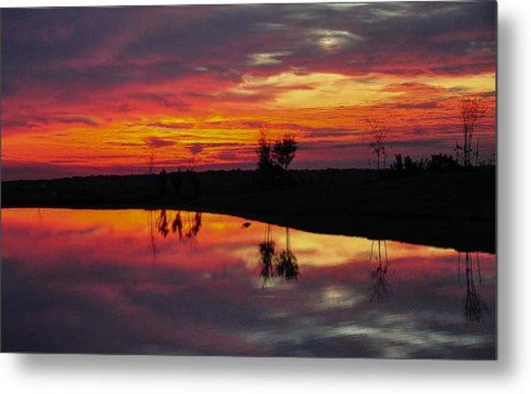 Sun Set At Cowen Creek Metal Print