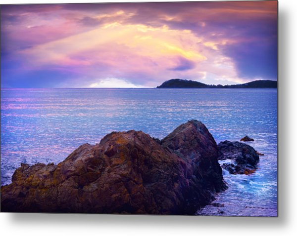 Sun Set Over St. Thomas Metal Print