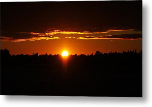 Sun Sets Over Huron Metal Print