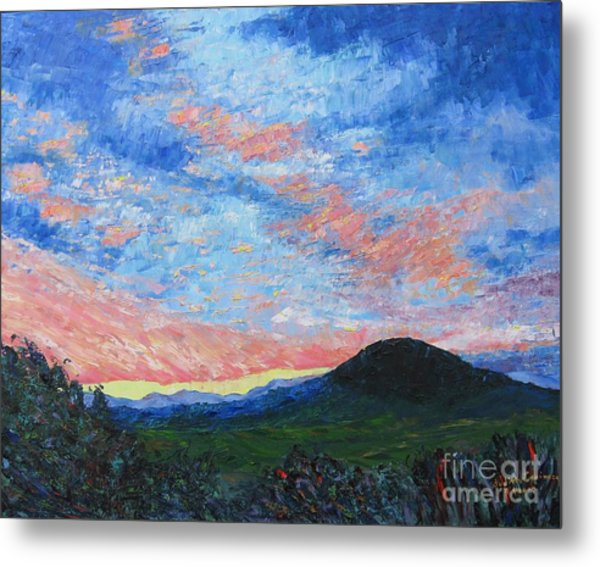 Sun Setting Over Mole Hill - Sold Metal Print by Judith Espinoza