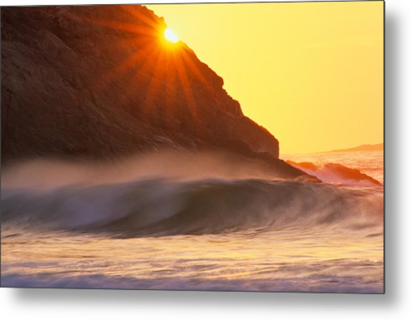 Metal Print featuring the photograph Sun Star Singing Beach by Michael Hubley