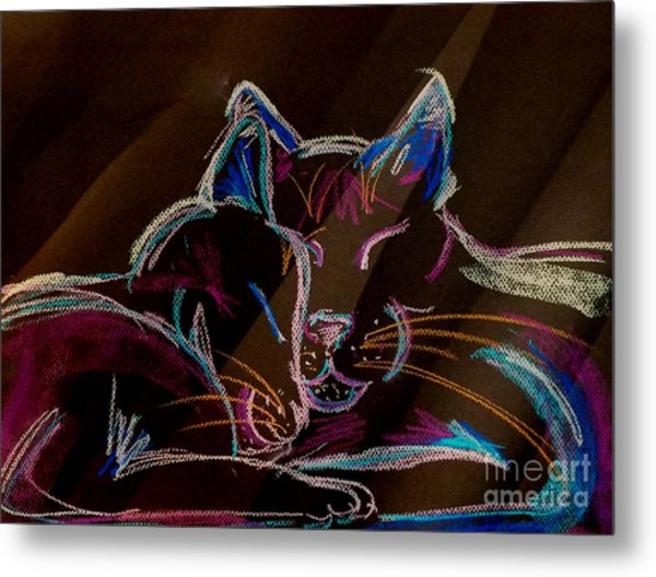Sunbeam Cats Metal Print
