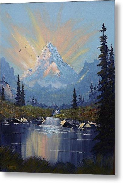 Sunburst Landscape Metal Print