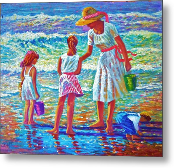 Sunday Afternoon At The Beach Metal Print by Joseph   Ruff