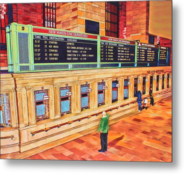 Sunday Am At Grand Central Metal Print