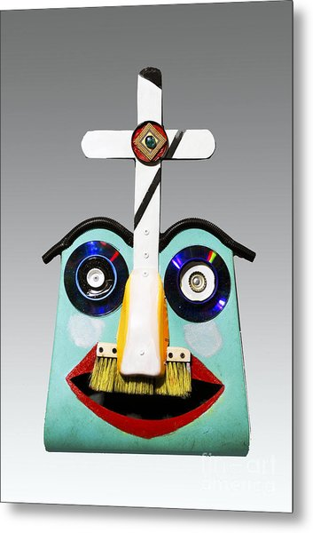 Sunday Mask Metal Print