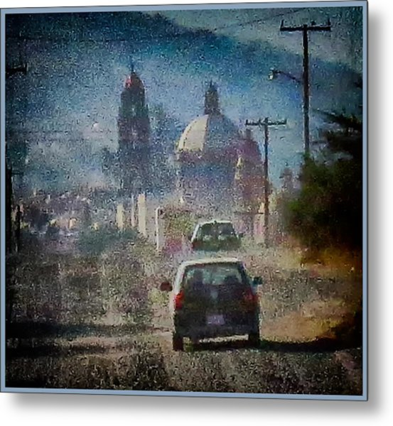 Sunday Morning Drive Metal Print