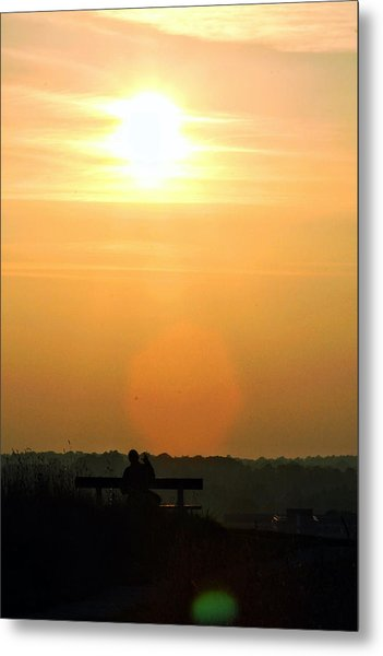 Sunday Sunset Metal Print