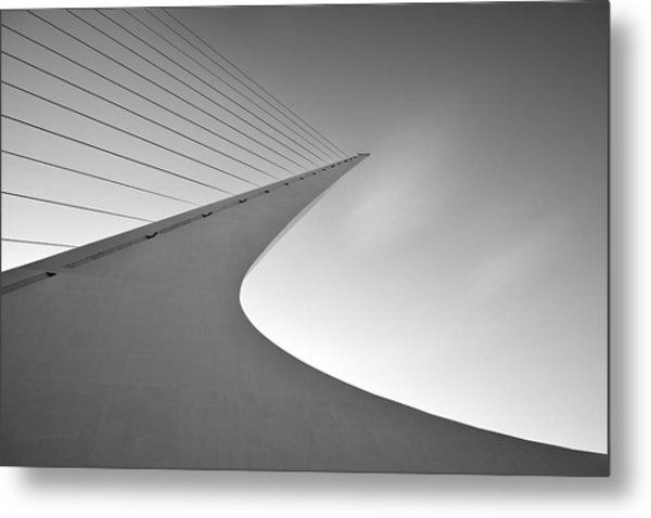 Sundial Bridge Bw 6 Metal Print by Leland D Howard