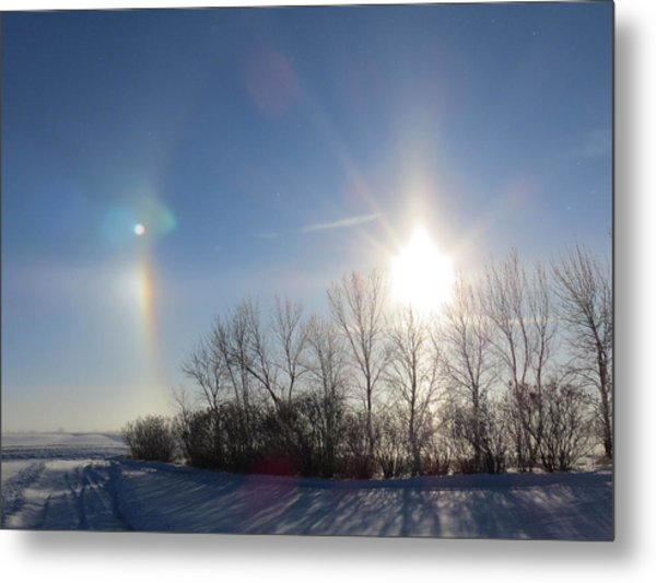 Sundog In North Dakota Metal Print