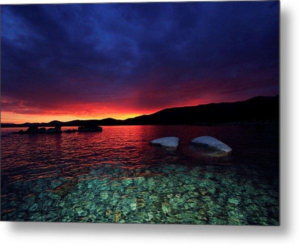 Sundown In Lake Tahoe Metal Print