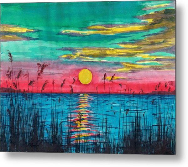 Sundown In The Glades Metal Print by Beverly Marshall