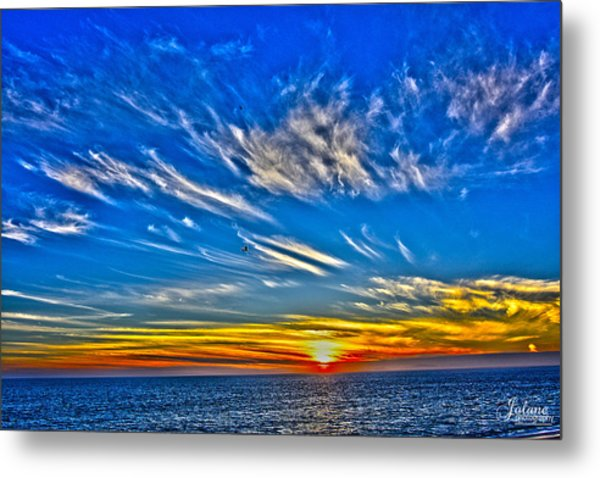 Sundown Over Pacific Metal Print