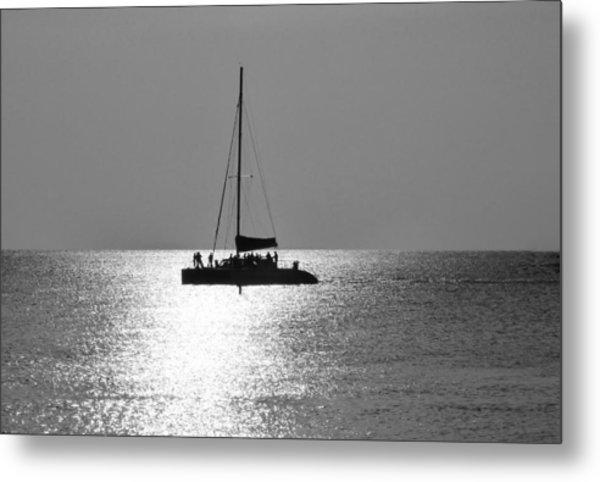 Sundown Sail Metal Print