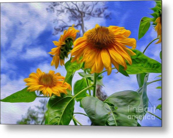 Sunflower Art Metal Print by George Paris