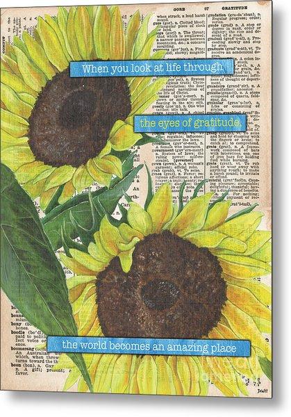 Sunflower Dictionary 2 Metal Print