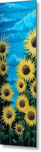 Sunflower Fun Metal Print