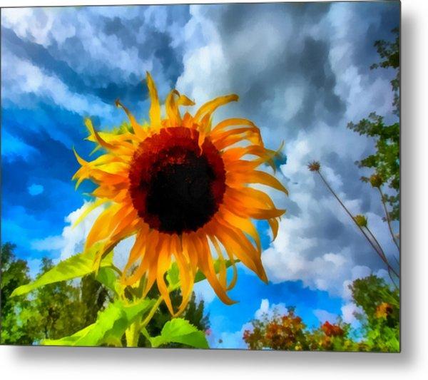 Sunflower Inspiration Metal Print