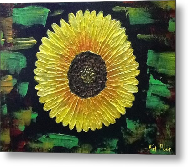 Sunflower Metal Print by Kat Poon