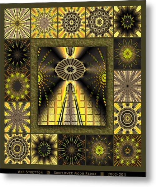 Sunflower Moon Redux Metal Print