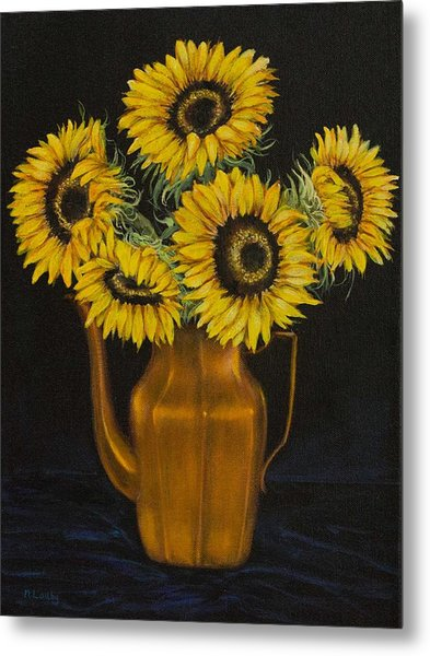 Sunflower Tea Metal Print