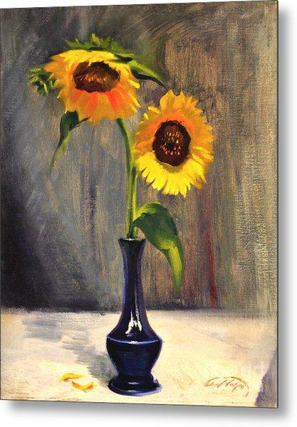 Sunflowers - Adoration Metal Print