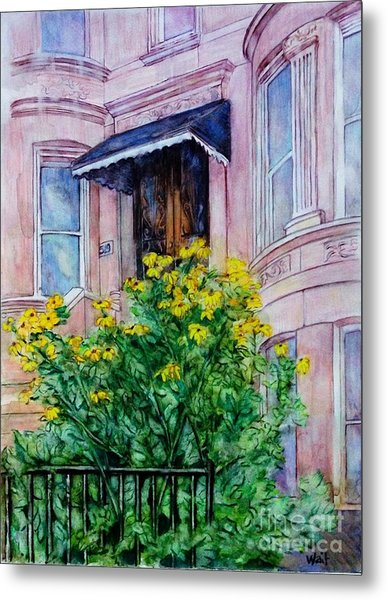 Sunflowers On 9th Street Metal Print