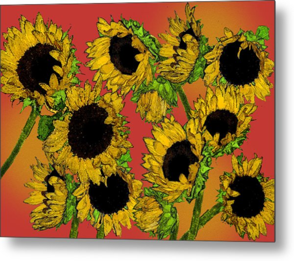 Sunflowers Metal Print by Robert Ashbaugh