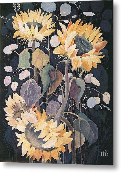 Sunflowers' Symphony Metal Print