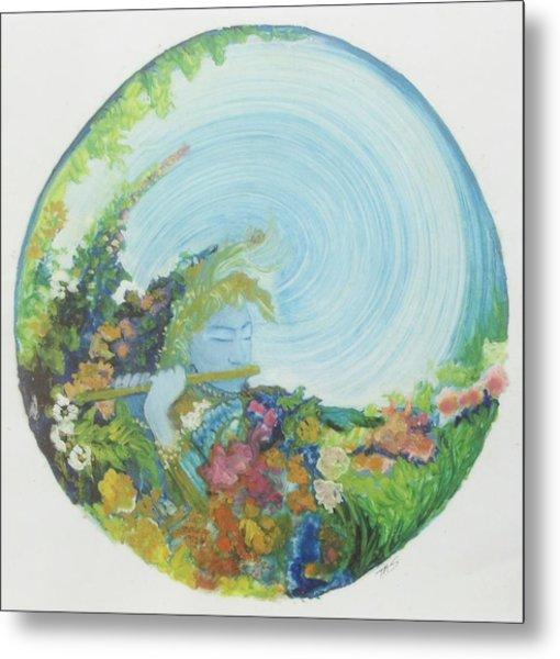 Reflection In The Sunken Tea Garden Metal Print