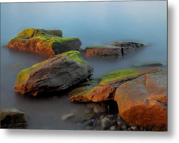 Sunkissed Rocks Metal Print