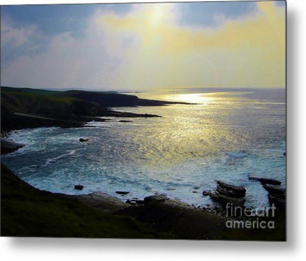 Sunlight On The Bay Metal Print