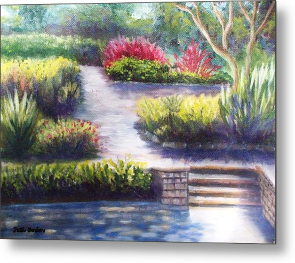 Sunlit Paths Metal Print