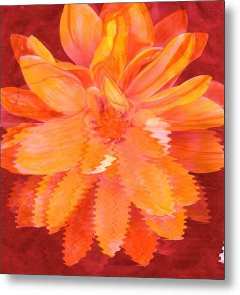 Sunny Burst Of Color Floral Metal Print by Anne-Elizabeth Whiteway