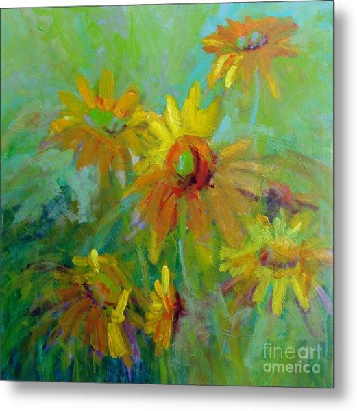 Sunny Daisies Metal Print by Virginia Dauth