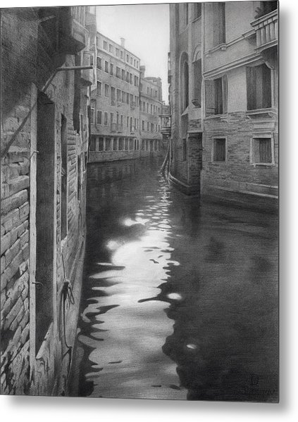 Metal Print featuring the drawing Sunny Days In Venice Mmvi by Denis Chernov