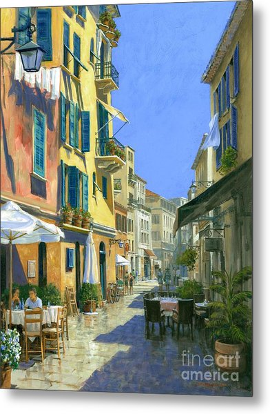 Sunny Side Of The Street 30 X 40 - Sold Metal Print by Michael Swanson