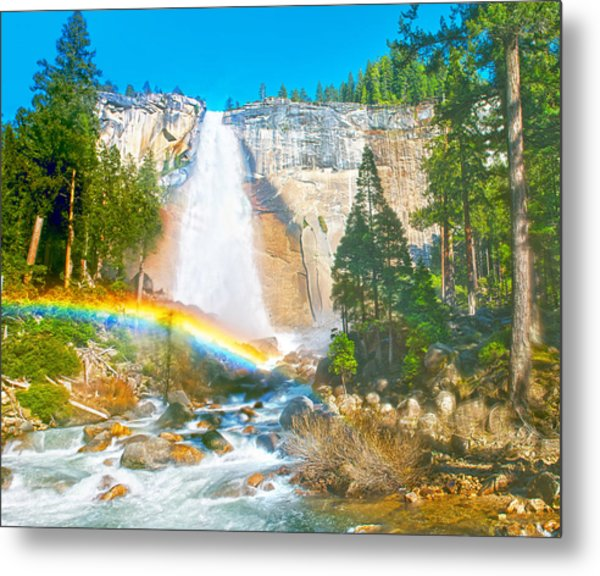 Nevada Fall On A May Afternoon Metal Print