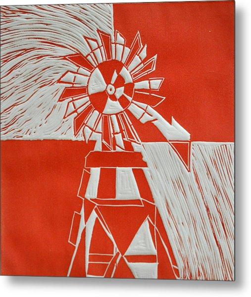 Sunny Windmill Metal Print