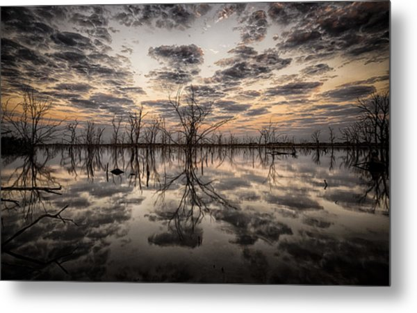 Sunrise And Clouds Metal Print