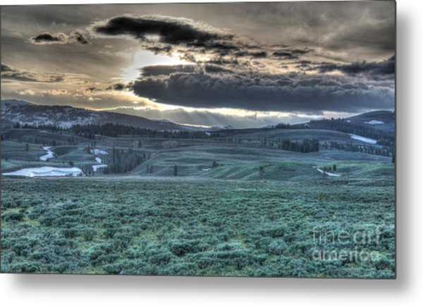 Sunrise At A Small Pond In Yellowstone Metal Print