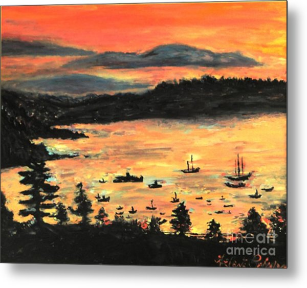 Sunrise At Bar Harbor Maine Metal Print