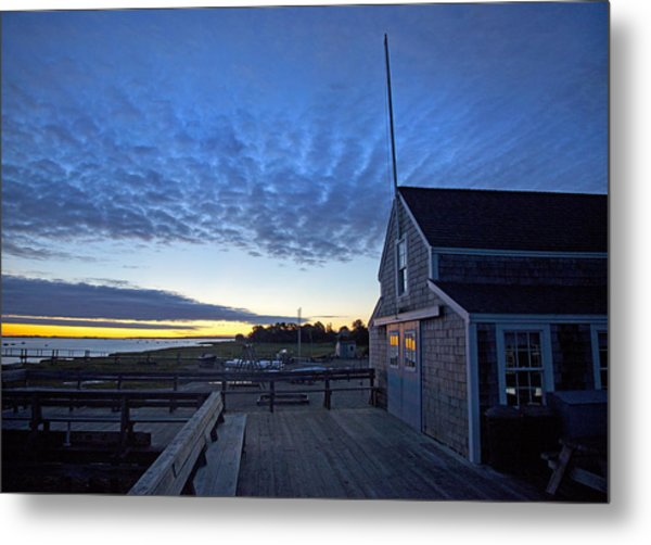 Sunrise At Barnstable Yacht Club Metal Print